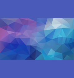 Abstract irregular polygon background blue purple vector