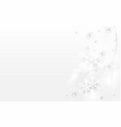 abstract white snowflake sparkle light background vector image