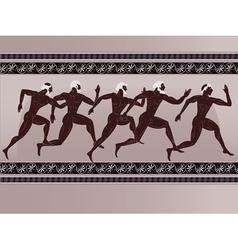 ancient greek figure vector image
