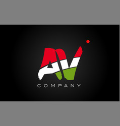 Av a v alphabet letter logo combination icon vector