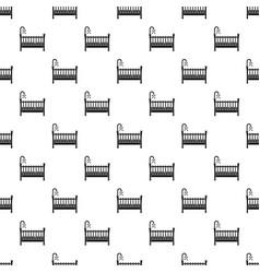 Baby crib pattern seamless vector