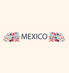 beautiful design about mexico vector image