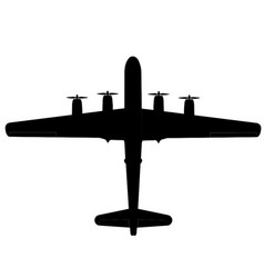 Boing b-29 superfortress top silhouette vector
