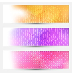 Bright abstract dotted cards collection vector