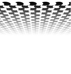 Chessboard checkerboard surface vanishing into vector
