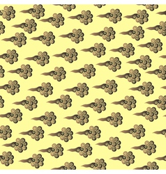 Chinese clouds seamless pattern vector