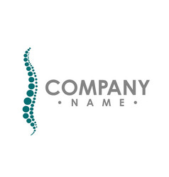 chiropractic abstract logo design template vector image