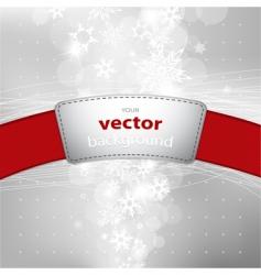 Christmas silver vector image
