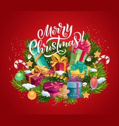 Christmas winter holidays gifts and presents vector