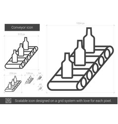 Conveyor line icon vector