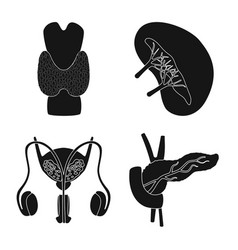 Design research and laboratory icon set vector