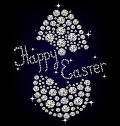 Diamond Easter Egg vector image