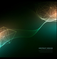 digital particles flowing background in cyber vector image
