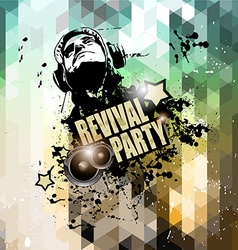 Disco flyer design for music club night events vector image