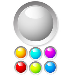 empty circle design elements in many colors eps 10 vector image