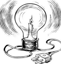 Energy Efficient burning electricity vector image