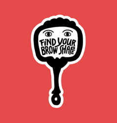 find your brow shape vector image