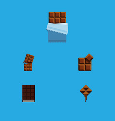 flat icon sweet set of wrapper delicious cocoa vector image