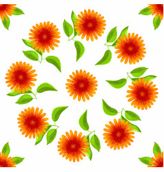 Floral seamless pattern watercolor flowers vector