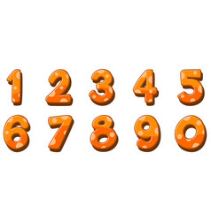 Font design for numbers one to zero on white vector