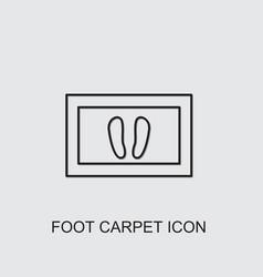 Foot carpet icon vector