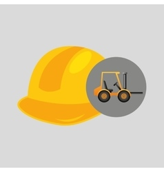 Forklift truck construction helmet icon graphic vector
