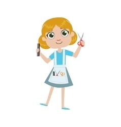 Girl future hairdresser vector
