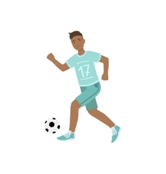 Guy In Blue Uniform Playing Football vector