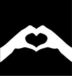 Hand making sign heart vector
