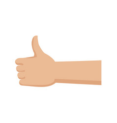 hand with thumb up like ok gesture icon vector image