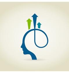 Head arrow2 vector image