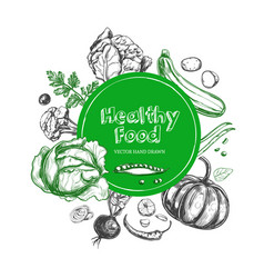 Healthy food vegetarian vector