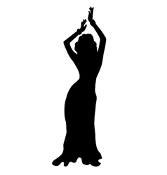 High quality original of dancing girl vector image