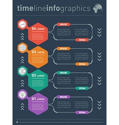Infographics of technology or education process vector