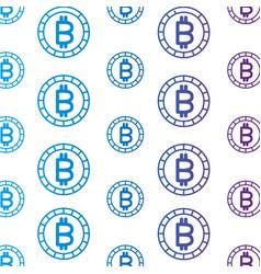 Isolated bitcoin design vector