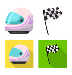 Isolated object of car and rally logo collection vector