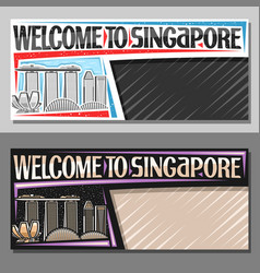 layouts for singapore vector image