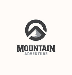 letter s mountain logo template in isolated white vector image