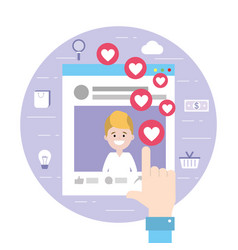 man website social media information vector image