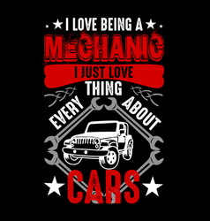 mechanic quote and saying best for graphic goods vector image