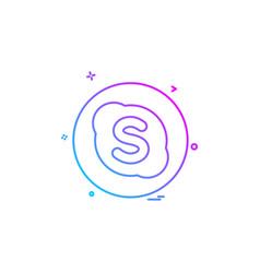Media network social skype icon vector