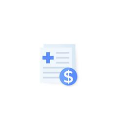 Medical bills icon design vector
