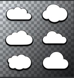 modern halftone cloud icons set vector image