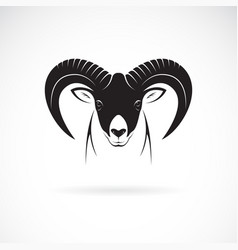 mountain goat head design on white background vector image