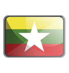 myanmar flag on white background vector image