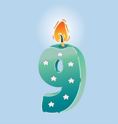 nine years celebration vector image