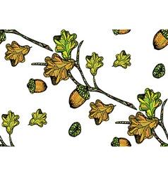 Oak pattern2 vector image
