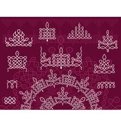 Pattern brush Rangoli vector