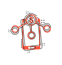 Payment services icon in comic style money send vector