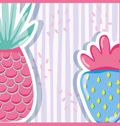 Punchy pastel pineapple vector
